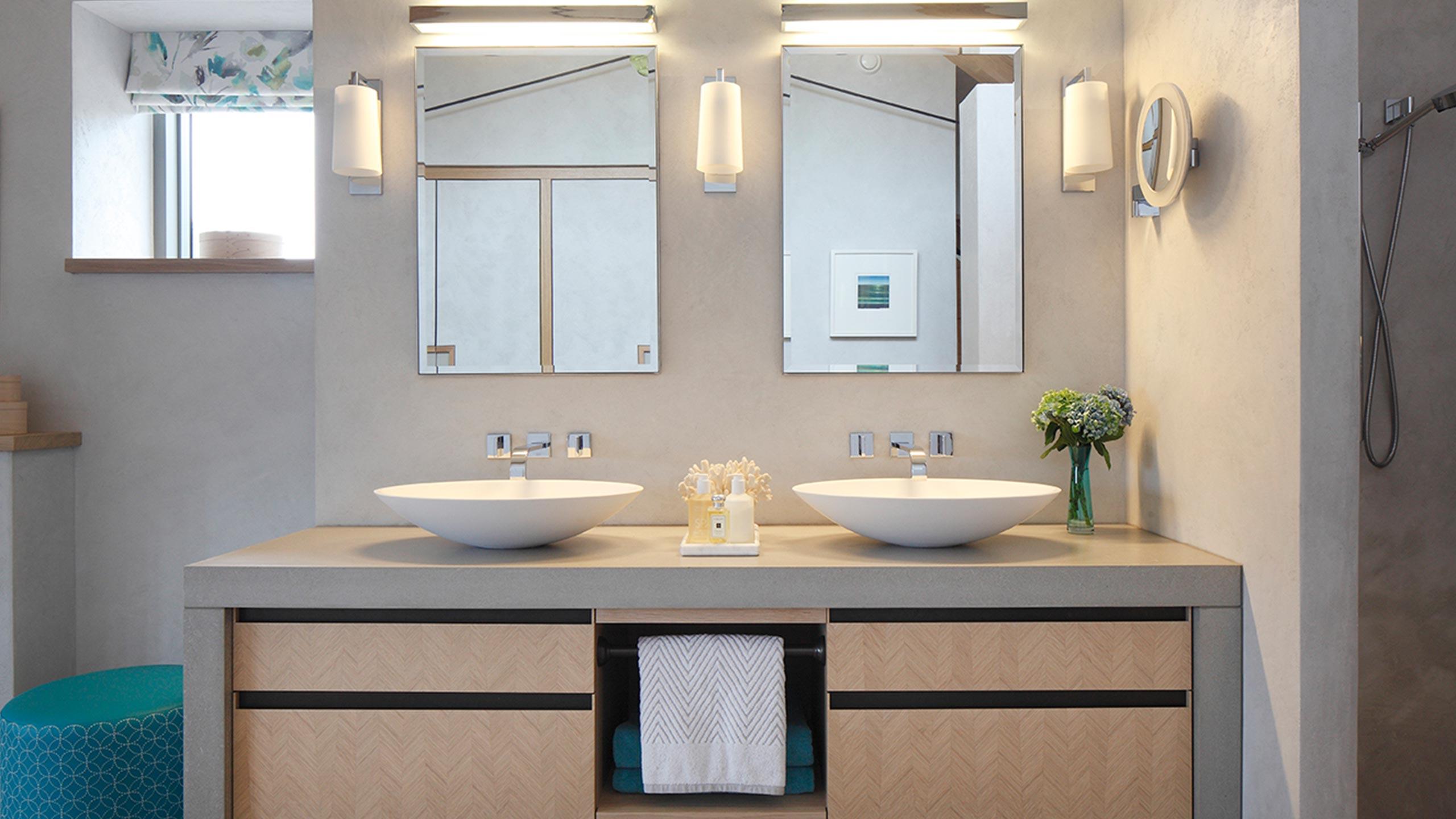 Joinery installation bathroom by Neova Installation.